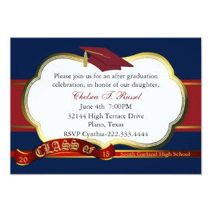 Red, White, and Blue Graduation Party Invitation