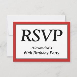 """Respectable, Clean and Elegant """"RSVP"""" Card"""