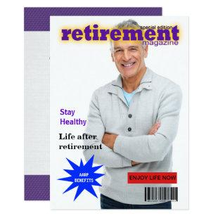 Retirement Magazine Cover Invitation