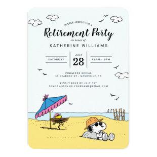 Retirement Party | Snoopy & Woodstock on the Beach Invitation