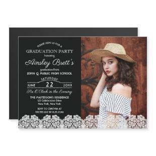 Rustic Country Lace   Photo Graduation Party Magnetic