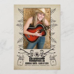 Rustic Country | Photo Graduation Party Invitation
