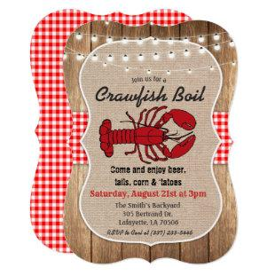 Rustic Crawfish Boil Invitation
