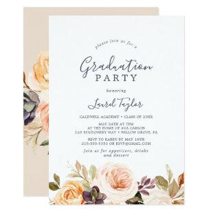 Rustic Earth Florals Graduation Party Invitation