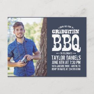 Rustic Graduation BBQ Invitation | Editable Colors