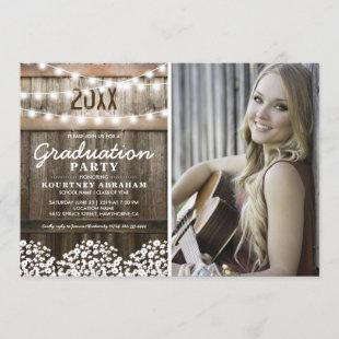 Rustic Photo Graduation | Class of 2021 Invitation