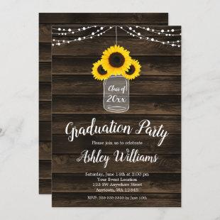 Rustic Sunflower String Lights Graduation Party