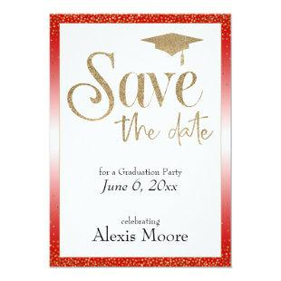 Save the Date for a Graduation Party Cherry Red Invitation