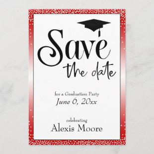 Save the Date Graduation Party, Cherry Red Invitation