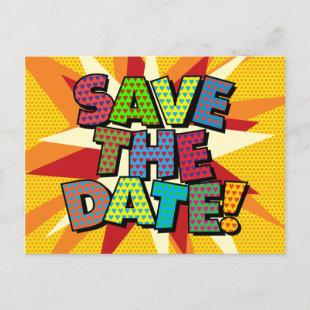 SAVE THE DATE Your Message Speech Bubble Announcement Postcard