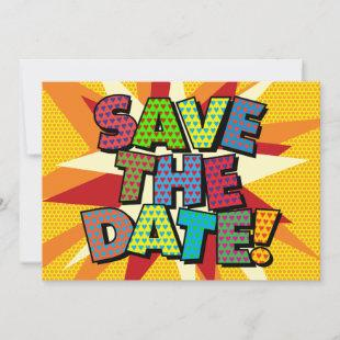 SAVE THE DATE Your Message Speech Bubble Fun Announcement