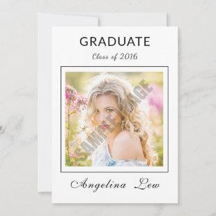 Senior Graduation Announcement and Invitation