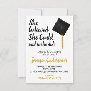 She believed She Could Graduation