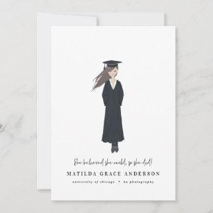 She believed she could so she did graduation party