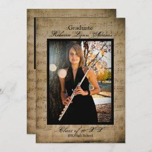Sheet Music Graduation Announcement w/ Photos