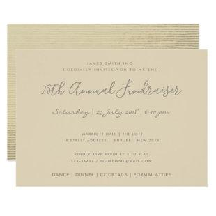SILVER PEACH SKETCH STRIPED LINE CORPORATE EVENT INVITATION