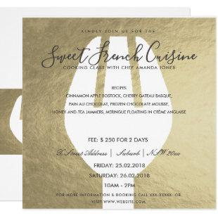 SILVER SPOON FORK COOKING CLASS INVITE TEMPLATE