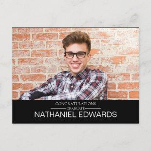 Simple Elegant Photo Graduation Invitation