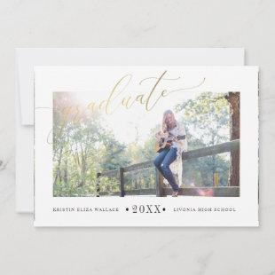 Simple Gold Graduation Announcements