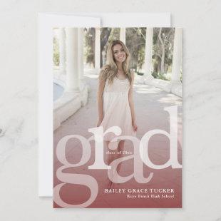 Simple GRAD Overlay ANY Year Dark Red Graduation Announcement