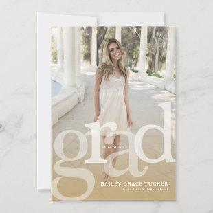Simple GRAD Overlay ANY Year Gold Graduation Announcement