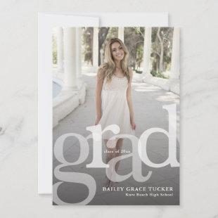 Simple GRAD Overlay ANY Year Graduation Announcement