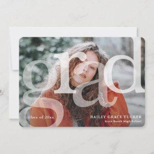 Simple GRAD Overlay Class of Year Graduation Announcement