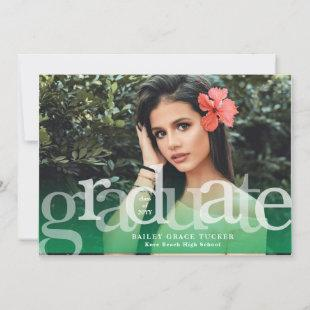 Simple Graduate Photo Overlay Graduation Announcement