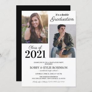 Simple Joint Graduation Party Invitation