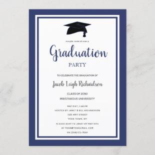 Simple Modern Graduation Party Invitation