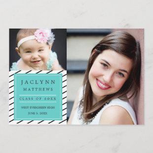 Simply Chic Photo Graduation Party Invitation