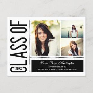 Simply Cool Graduation Announcement/Invitation Invitation Postcard