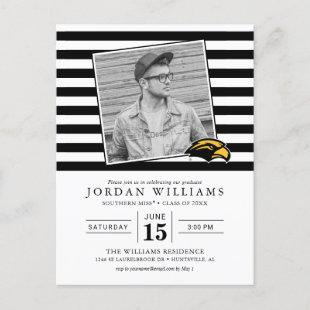 Southern Mississippi Graduate Announcement Postcard