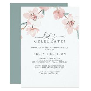 Spring Cherry Blossom Let's Celebrate Invitation