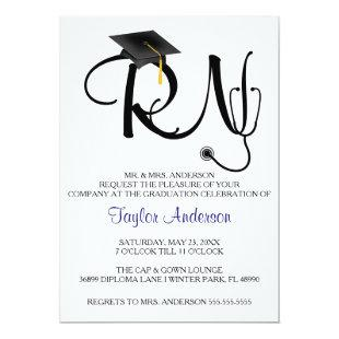 Stethoscope Nursing School Graduation Announcement
