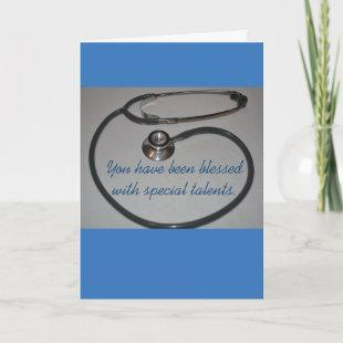 Stethoscope Physician's Assistant Graduation Card