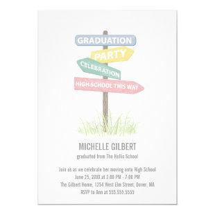 Street Sign 8th Grade Gradution Party Invitation