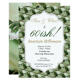 STUNNING LILY OF THE VALLEY FLOWER INVITATION