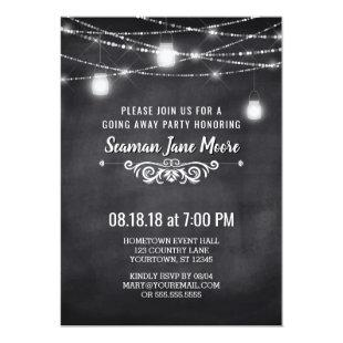 Summer Going Away Party Mason Jar Lights Invite