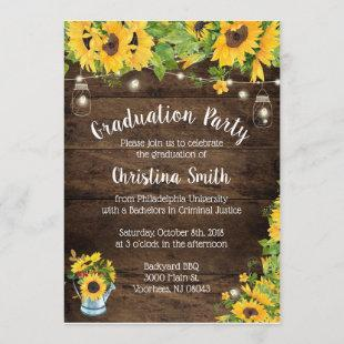 Sunflower Graduation Party - Country Rustic