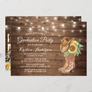 Sunflowers Cowgirl Boots 3 Photos Graduation Party