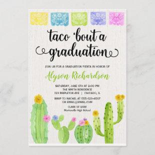 Taco bout a graduation party fiesta cactus invitation