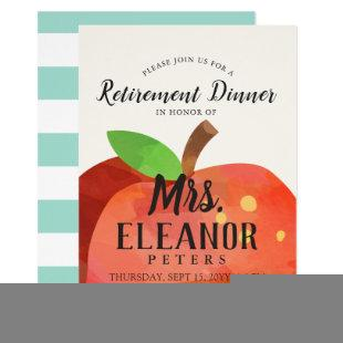 Teacher's Apple Retirement Dinner | Party Invite