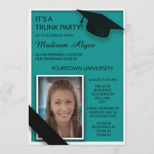 Teal Black College Trunk Party Dorm Shower Photo