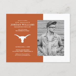 Texas Longhorns Logo | Future Graduate Announcement Postcard