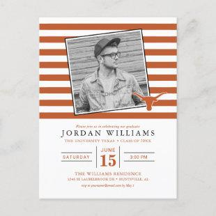 Texas Longhorns Logo | Graduate Announcement Postcard