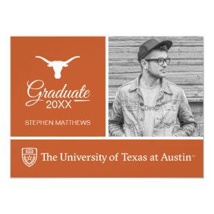 Texas Longhorns Logo Graduate Invitation
