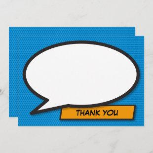 Thank You Your Message Speech Bubble Fun Retro Invitation