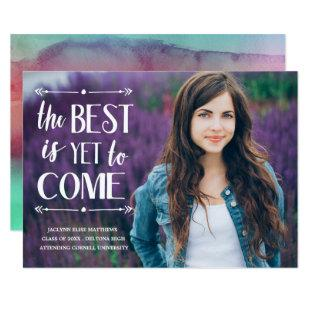 The Best is Yet to Come | Graduation Party Invite