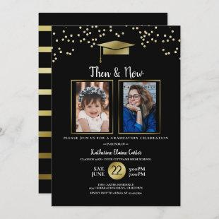 Then and Now Photo Template Graduation Party
